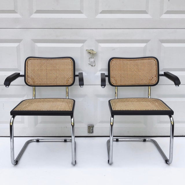 Marcel Breuer Vintage Modern Cesca Style Dining Chairs- Set of 8 For Sale - Image 4 of 13