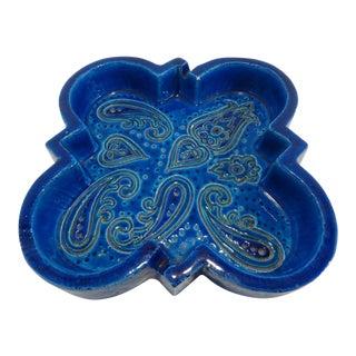 Aldo Londi for Bitossi Rimini Blu Rosenthal Netter Italian Pottery Ashtray Dish For Sale
