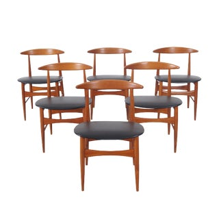 Danish Teak Dining Chairs by Mogens Kold For Sale
