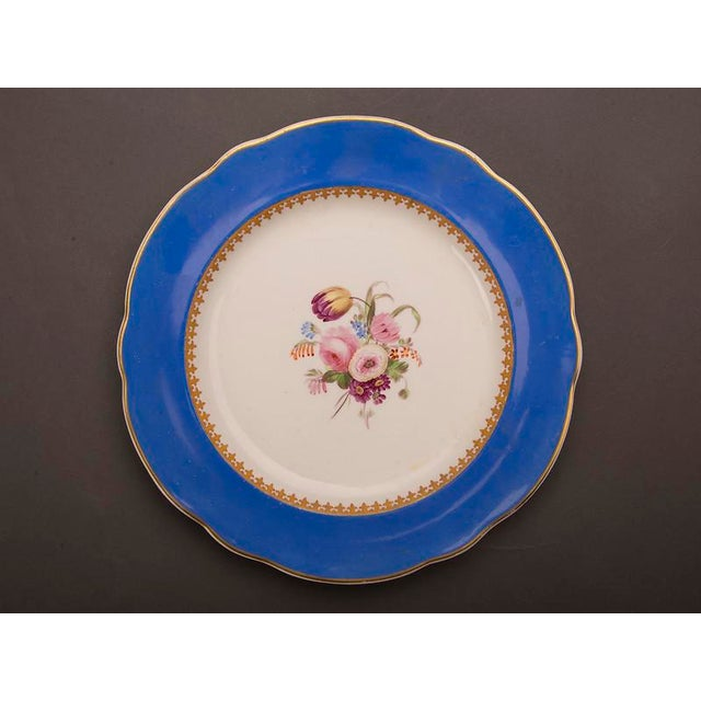 19th Century Antique English Sèvres Style Copeland Dessert Salad Plates - Set of 6 For Sale In Houston - Image 6 of 10