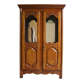 French Provincial China Bar Cabinet