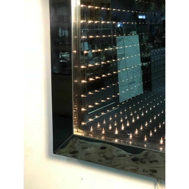 Modern 1970's Infinity Mirror For Sale - Image 3 of 8