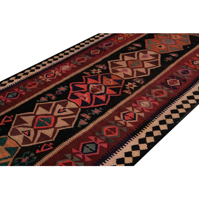 "Mid-20th Century Vintage Kilim Runner Rug 5' 1"" X 12' 2''. For Sale - Image 12 of 13"