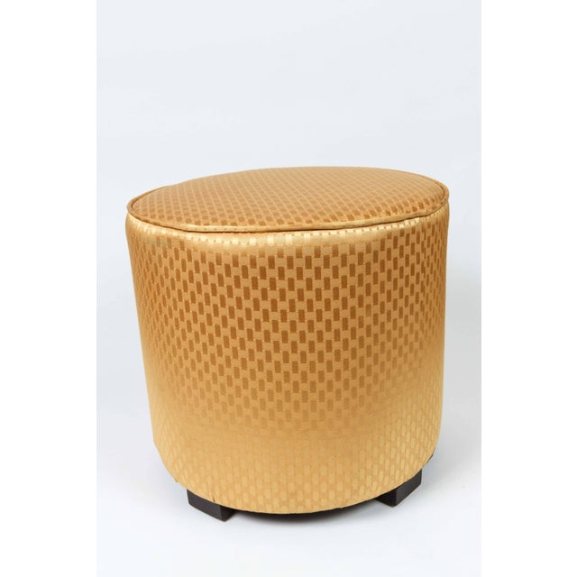 Mid 20th Century Vintage Mid Century Gold Moroccan Stools- a Pair For Sale - Image 5 of 8
