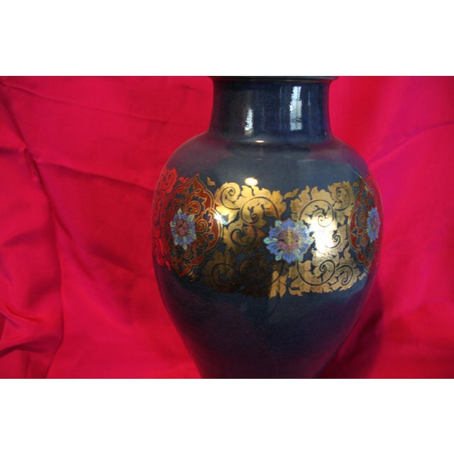 Traditional Benjaron Tall Vase For Sale - Image 3 of 4