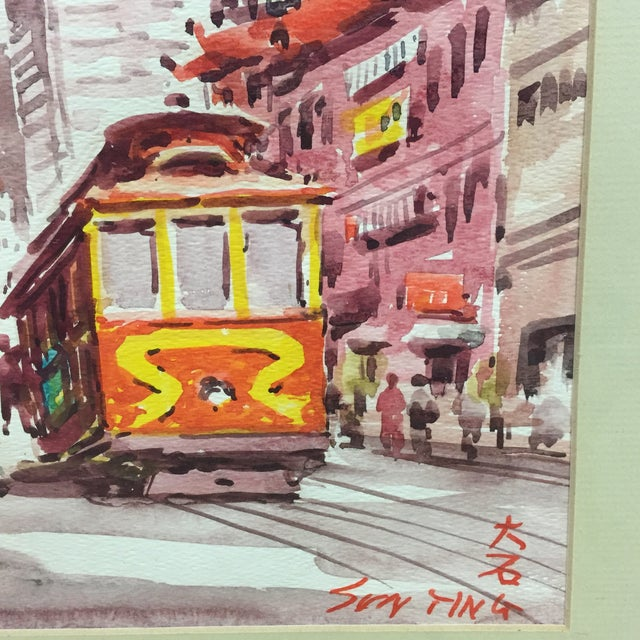 Japanese Signed Watercolor Painting For Sale In Boston - Image 6 of 11