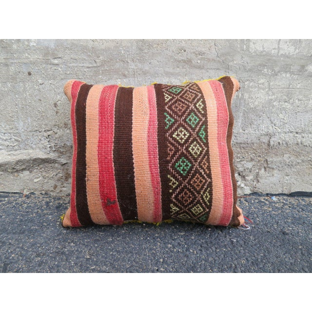 Boho Chic Cotton Candy' Moroccan Berber Wool Pillow For Sale - Image 3 of 3