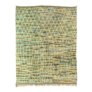 1970s Vintage Hand Knotted Moroccan Rug For Sale