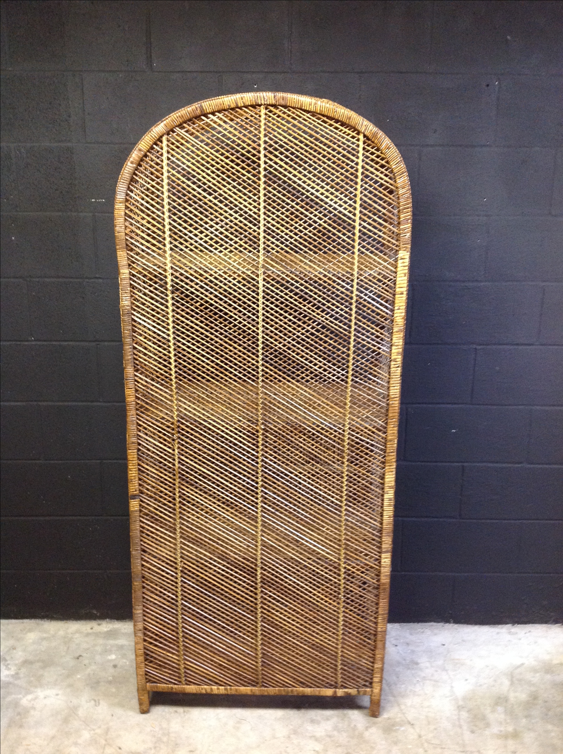 Wicker And Rattan Peacock Cabinet   Image 4 Of 8