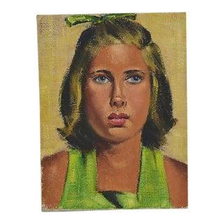 Vintage 1960s Dorothy Neal Portrait Oil Painting