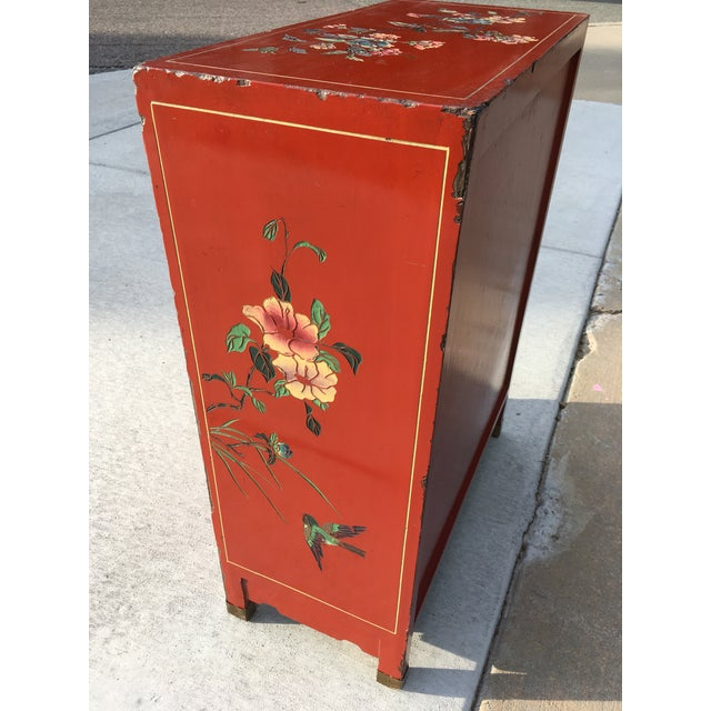 Early 20th Century Chinoiserie Hand Painted Cabinet For Sale - Image 11 of 13