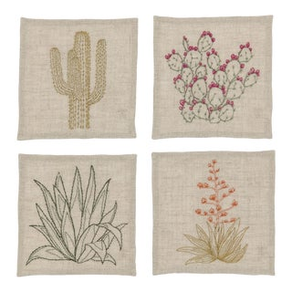 Cacti Cocktail Napkins - Set of 4 For Sale