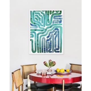 """Medium """"Seaside Pool"""" Print by Kate Roebuck, 26"""" X 34"""" Preview"""