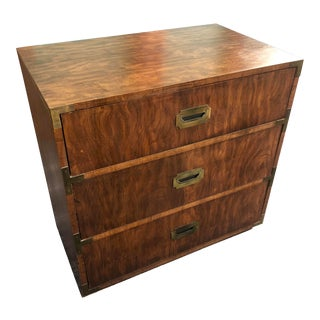 Late 20th Century Mid Century Modern Dixie Campaign Bachelors Chest For Sale