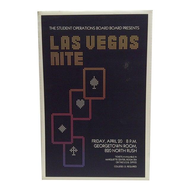 'Las Vegas Nite' Gambling Event Poster For Sale