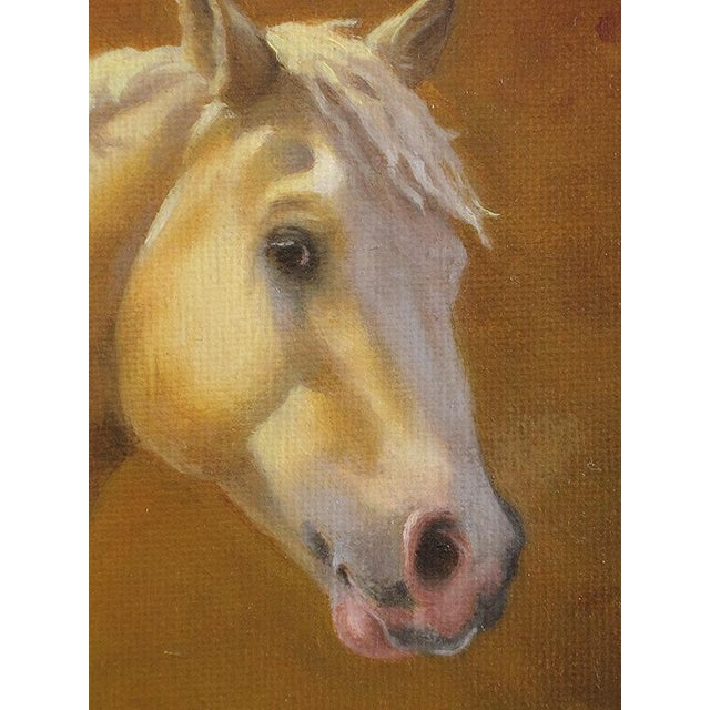 """Ute Simon """"Sunset Over Moon"""" Horse Painting - Image 4 of 6"""