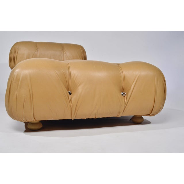 Mario Bellini 'Camaleonda' Chair and Ottoman, 1970s For Sale - Image 10 of 12