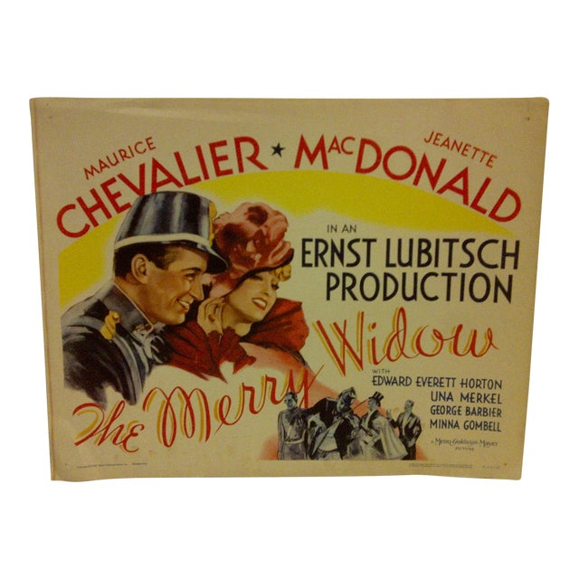 "1962 Vintage ""The Merry Widow"" Movie Poster, Starring Maurice Chevalier For Sale"
