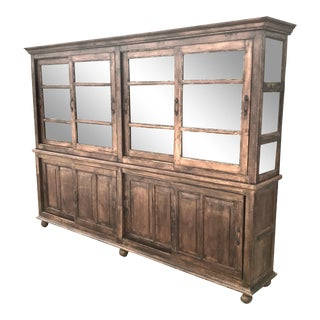 Large Reclaimed Wood Vitrine