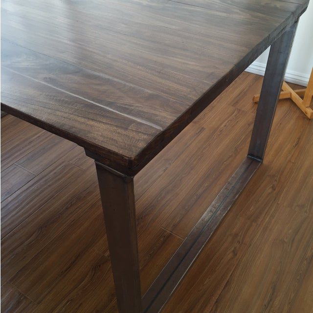 Handmade Reclaimed Wood Dining Table - Image 8 of 9