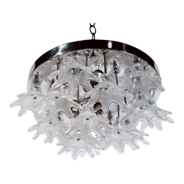 American Glass Bloom Cluster Plafonnier For Sale