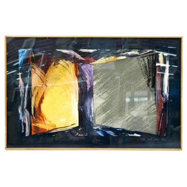 Untitled Abstract Mixed Media on Paper by Laddie John Dill For Sale