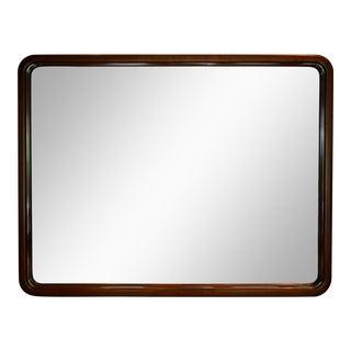 Heavy Carved Solid Walnut Mirror