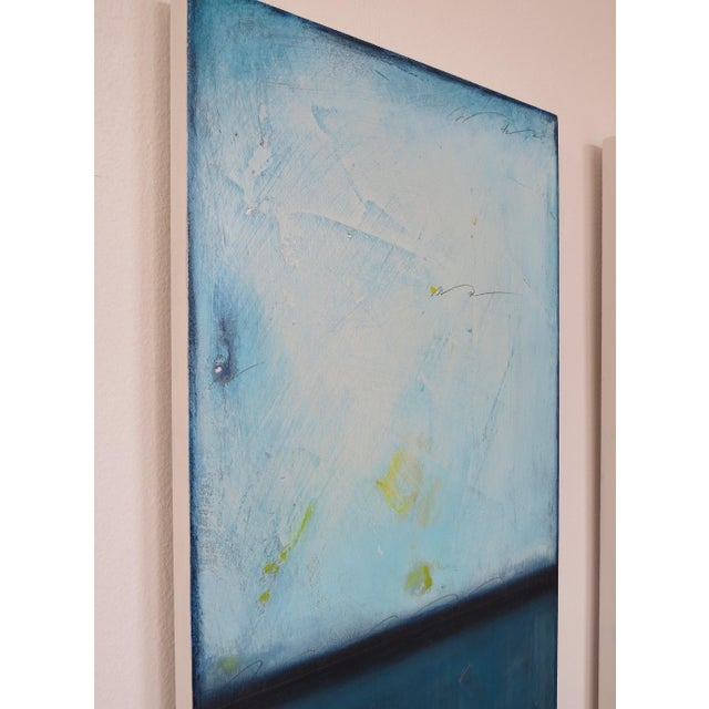 Blue Velvet Sunrise, I & II. Mixed Media Oil on Panel - Pair - Image 5 of 11