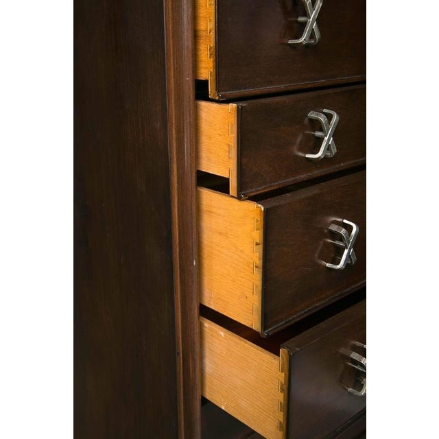 Mid-Century Modern Paul Frankl John Stuart Rosewood Commodes- A Pair For Sale - Image 3 of 8