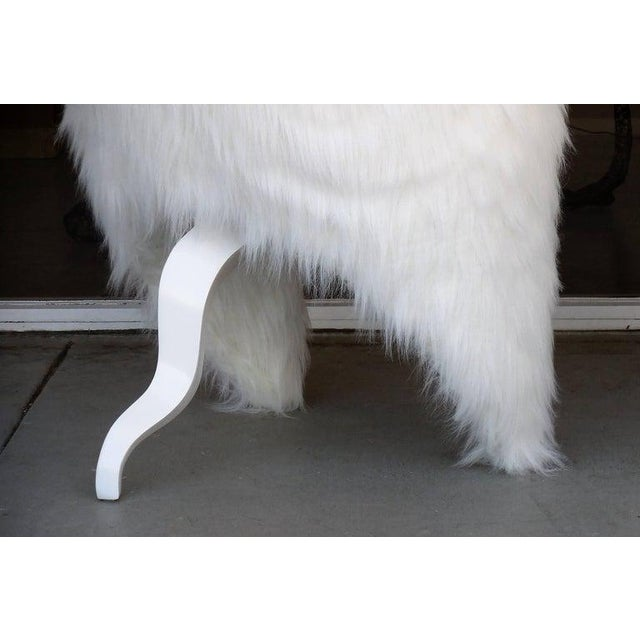 Pair of White Surreal Faux Fur Lounge Chairs For Sale In Miami - Image 6 of 8