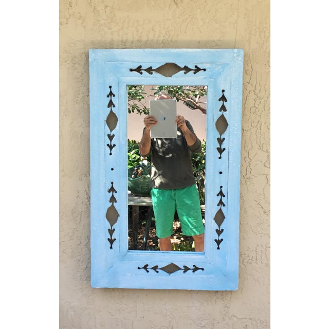 Vintage Hand Carved Wood Mirror For Sale - Image 11 of 11