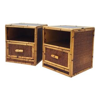 Pair Vintage Boho Nightstands