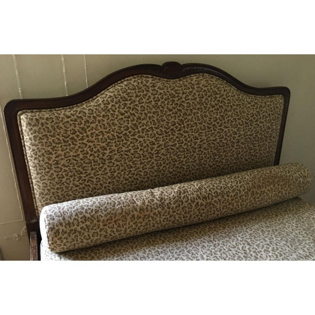 Superb Antique French Provincial Bed - Scalamandre Cheetah - Image 3 of 6