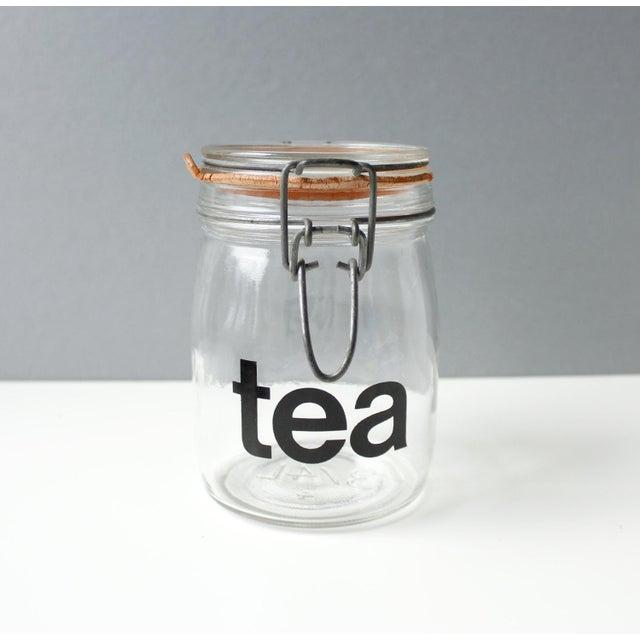 Mid-Century Vintage Glass Tea Jar - Image 3 of 5