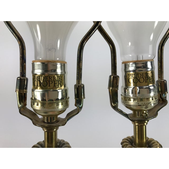 Frederick Cooper Brass & Lucite Buffet Lamps - A Pair - Image 7 of 10
