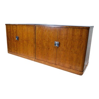 European Art Deco Burl Cabinets - A Pair For Sale