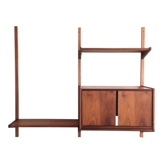 1950s Mid Century Modern Adjustable Wall Unit For Sale