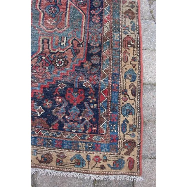 """Antique Persian Rug - 3'6"""" x 6'2"""" - Image 7 of 8"""