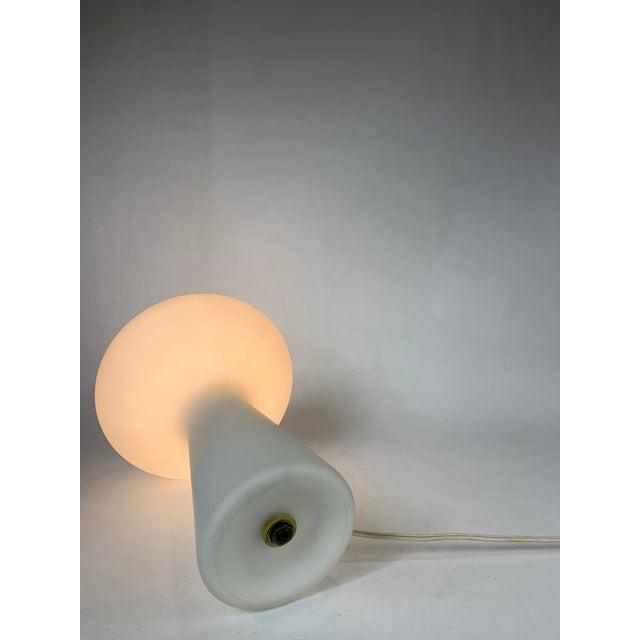 White Italian Glass Mushroom Lamp by Lisa Johansson-Pape For Sale - Image 8 of 10