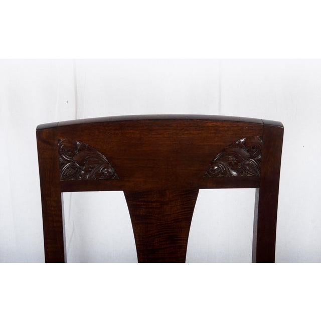 Brown Set of Four German Art Nouveau Dining Chairs For Sale - Image 8 of 11