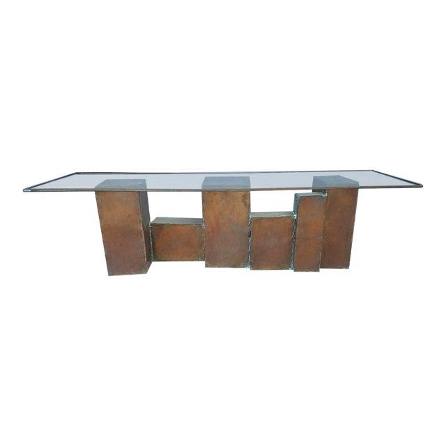 1970's Vintage David Marshall Brutalist Coffee Table For Sale