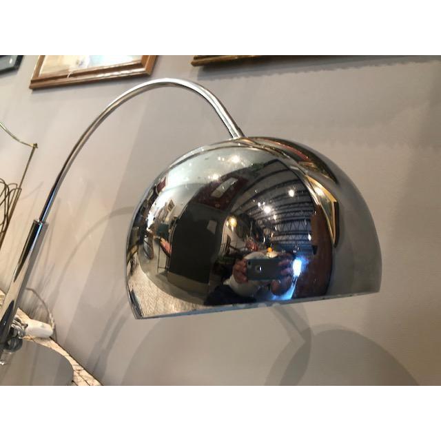 Industrial Mod Chrome Arc Modern Desk Lamp For Sale - Image 3 of 9