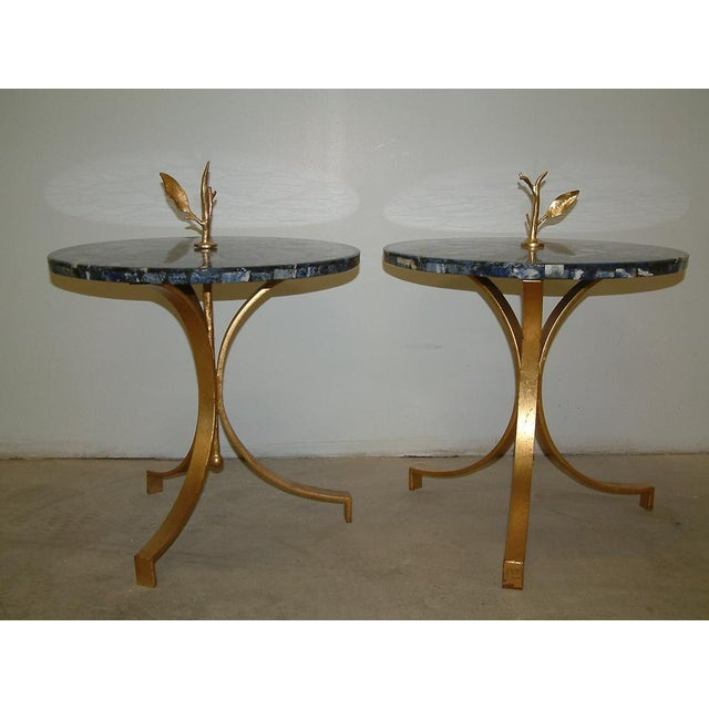 Metal 1998 United States Maurice Beane Studios Twig Leaf Tables - Pair For Sale - Image 7 of 9