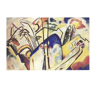 1986 Wassily Kandinsky 'Composition 4' Expressionism Multicolor,Blue,White,Yellow,Purple Germany Offset Lithograph For Sale