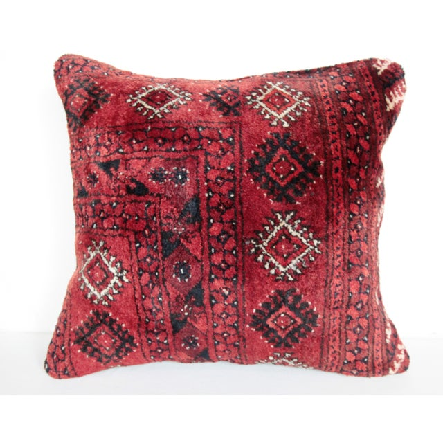 Turkish Vintage Carpet Cushion Cover - Image 2 of 7