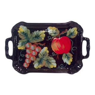 Mid-Century Italian Ceramic Tuscan Fruit Platter For Sale