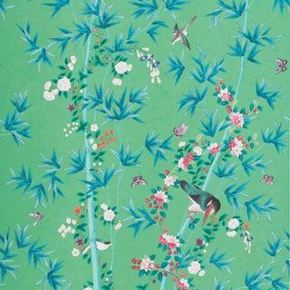 Sample - Schumacher X Miles Redd Brighton Pavilion Wallpaper in Emerald Preview