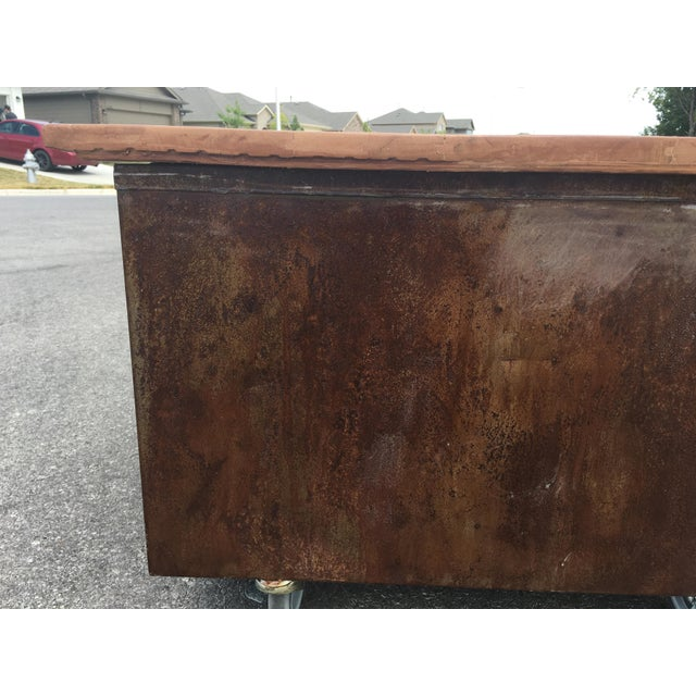 1980s Industrial Reclaimed Flat File Coffee Table For Sale - Image 9 of 13