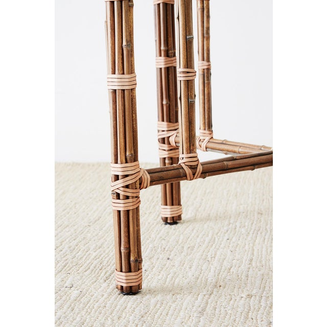 McGuire Organic Modern Bamboo Rattan Dining Table For Sale - Image 12 of 13