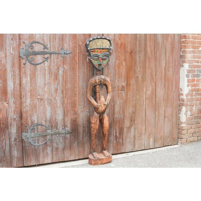 Bamum African Large Tribal Statue For Sale - Image 4 of 11
